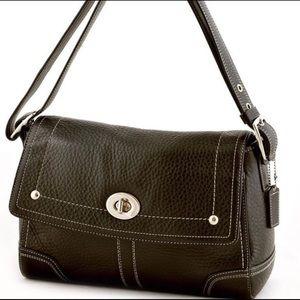 Coach Hamilton Black Leather Shoulder Bag